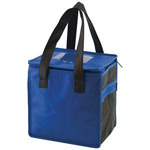 """Lunch Tote Bag, 8"""" x 6"""" x 8.5"""" x 6"""", Royal/Black"""