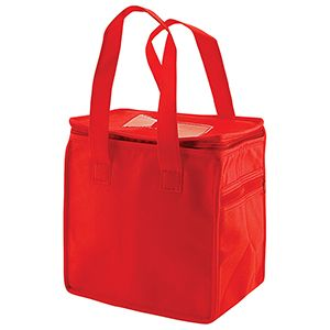 """Lunch Tote Bag, 8"""" x 6"""" x 8.5"""" x 6"""", Red"""