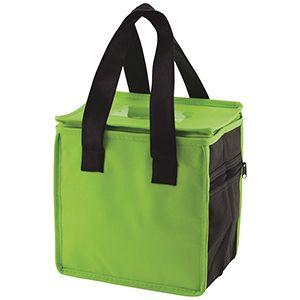 "Lunch Tote Bag, 8"" x 6"" x 8.5"" x 6"", Lime/Black"