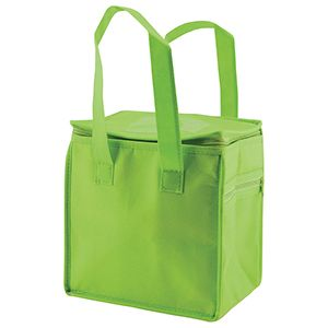"""Lunch Tote Bag, 8"""" x 6"""" x 8.5"""" x 6"""", Lime Green"""