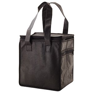 "Lunch Tote Bag, 8"" x 6"" x 8.5"" x 6"", Black"