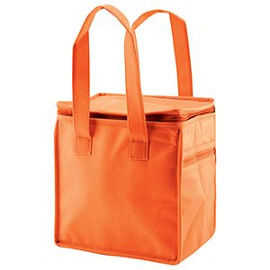 "Lunch Tote Bag, 8"" x 6"" x 8.5"" x 6"", Orange"
