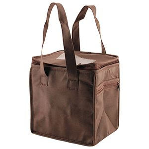 """Lunch Tote Bag, 8"""" x 6"""" x 8.5"""" x 6"""", Chocolate"""