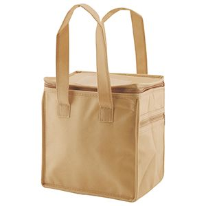 """Lunch Tote Bag, 8"""" x 6"""" x 8.5"""" x 6"""", Natural"""