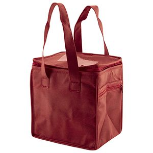 "Lunch Tote Bag, 8"" x 6"" x 8.5"" x 6"", Burgundy"