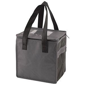 "Lunch Tote Bag, 8"" x 6"" x 8.5"" x 6"", Charcoal/Black"