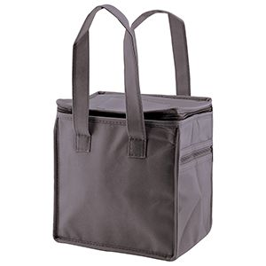 """Lunch Tote Bag, 8"""" x 6"""" x 8.5"""" x 6"""", Charcoal"""