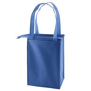 """Insulated Lunch Tote Bag, 8"""" x 7"""" x 12"""", Royal Blue"""