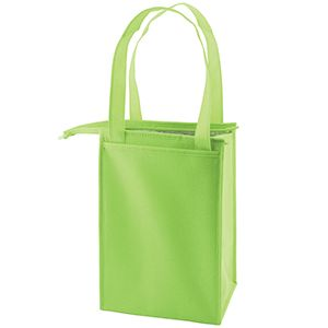 """Insulated Lunch Tote Bag, 8"""" x 7"""" x 12"""", Lime Green"""