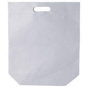 """Die cut Reusable shopping bags, 15"""" x 18"""" + 4"""", White"""