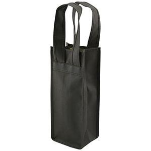 """Single Bottle Wine Bags, 4.5"""" x 3.5"""" x 11"""", Black"""