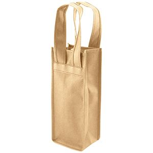 """Single Bottle Wine Bags, 4.5"""" x 3.5"""" x 11"""", Natural"""