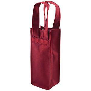 "Single Bottle Wine Bags, 4.5"" x 3.5"" x 11"", Burgundy"
