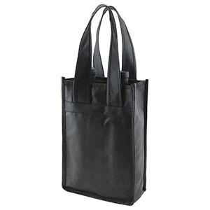 """2 Bottle Wine Bags, 7"""" x 3.5"""" x 11"""" x 3.5"""", Black"""