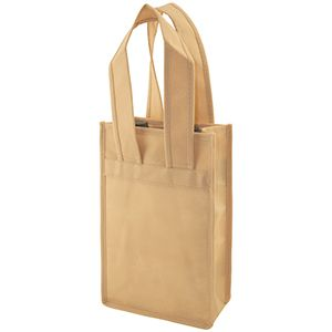 """2 Bottle Wine Bags, 7"""" x 3.5"""" x 11"""" x 3.5"""", Natural"""