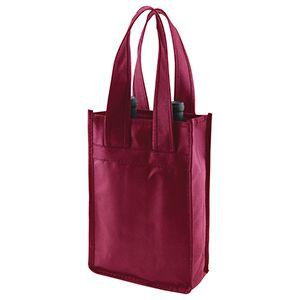 """2 Bottle Wine Bags, 7"""" x 3.5"""" x 11"""" x 3.5"""", Merlot"""