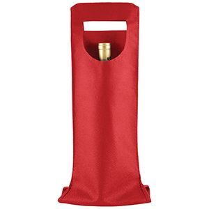 """1 Bottle Wine Bags, 6"""" x 16.25"""", Red"""