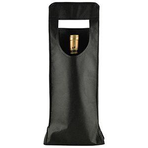 """1 Bottle Wine Bags, 6"""" x 16.25"""", Black"""