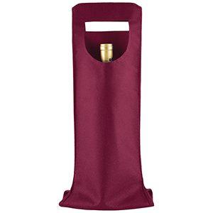 """1 Bottle Wine Bags, 6"""" x 16.25"""", Merlot"""