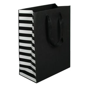 "Stripe, Twill Handle Euro tote shopping bags, 10""W x 5""D x 13""H"