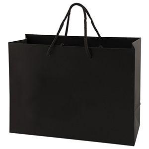 "Black Tote Shopper Bags, Non Laminated, 13"" x 5"" x 10"" x 5"""