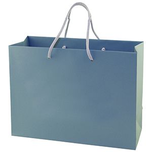 "Blue Tote Shopper Bags, Non Laminated, 13"" x 5"" x 10"" x 5"""