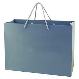 "Blue Tote Shopper Bags, Non Laminated, 16"" x 6"" x 12"" x 6"""
