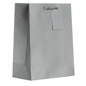 "Medium Tote Bag, Silver, 10"" x 8"" x 4"""