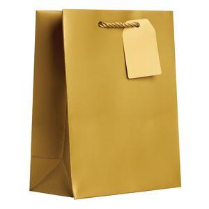 "Medium Tote Bag, Gold, 10"" x 8"" x 4"""