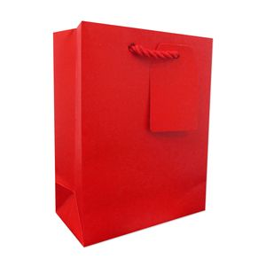"""Small Tote Bag, Red, 7.5"""" x 6"""" x 3"""""""