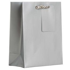 """Small Tote Bag, Silver, 7.5"""" x 6"""" x 3"""""""