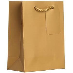 "Small Tote Bag, Gold, 7.5"" x 6"" x 3"""