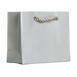 """Small Tote Bag, Silver, 5"""" x 4"""" x 2"""""""