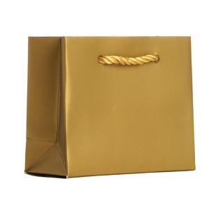 "Small Tote Bag, Gold, 5"" x 4"" x 2"""