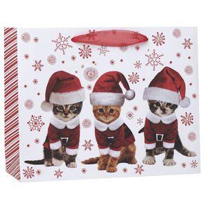 """Medium Tote Bag, Kitty Christmas Collection, 10"""" x 8"""" x 4"""""""