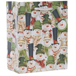 "Small Tote Bag, Snowman Chorus Collection, 7.5"" x 6"" x 3"""