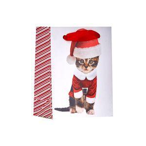 """Small Tote Bag, Kitty Christmas Collection, 5"""" x 4"""" x 2"""""""