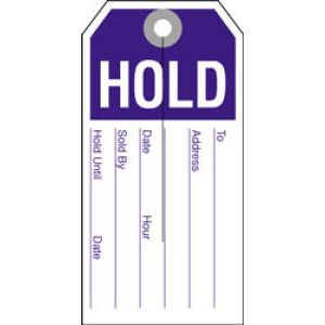 """HOLD Tag, 2-3/8"""" x 4-3/4"""""""