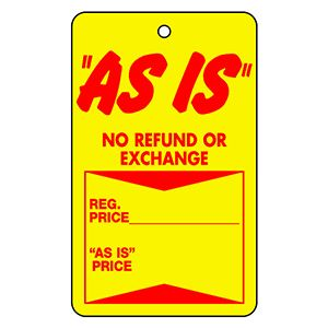 """Strung Sale Price Tags, 1-3/4"""" x 2-7/8"""" - """"As Is"""""""