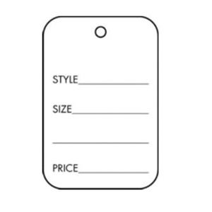 "Strung Apparel Tags, 1-1/4"" x 1-7/8"""