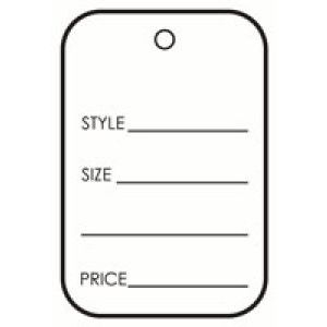 "UnStrung Apparel Tags, 1-3/4"" x 2-7/8"""
