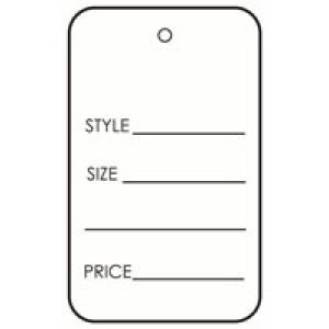 "UnStrung Apparel Tags, 1-1/4"" x 1-7/8"""