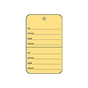 """1 3/4"""" Buff, UnStrung Apparel Colored Tags"""