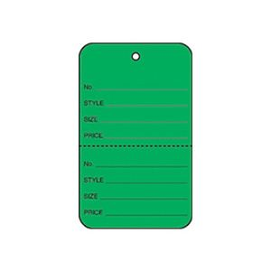 """1 3/4"""" Dark Green, UnStrung Apparel Colored Tags"""