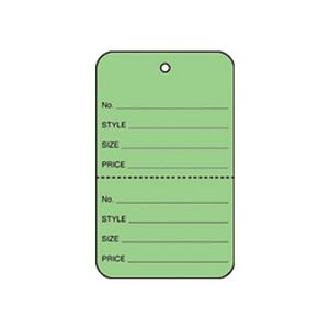 """1 3/4"""" Green, UnStrung Apparel Colored Tags"""