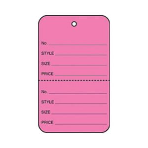 """1 3/4"""" Pink, UnStrung Apparel Colored Tags"""