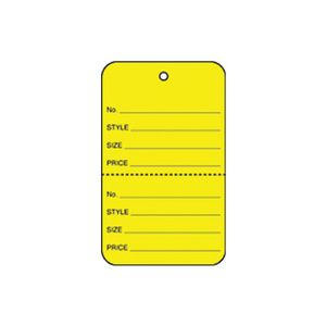 """1 3/4"""" Yellow, UnStrung Apparel Colored Tags"""
