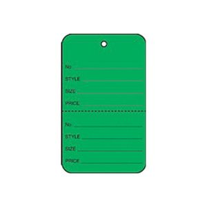 """1 1/4"""" Dark Green, UnStrung Apparel Colored Tags"""