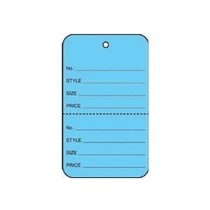 """1 1/4"""" Blue, UnStrung Apparel Colored Tags"""