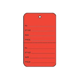 """1 1/4"""" Red, UnStrung Apparel Colored Tags"""